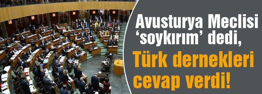 Avusturya Meclisinin 'soykırım' ına cevap!