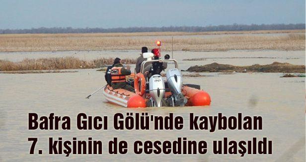 Bafra Gıcı Gölü'nde cesetlerin tamamı bulundu