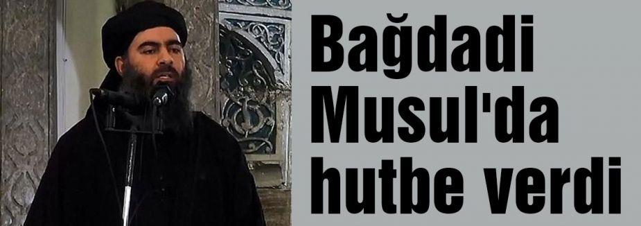 Bağdadi Musul'da hutbe verdi