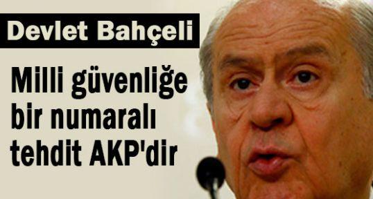 Bahçeli; AKP Milli Güvenliği Tehdit Ediyor