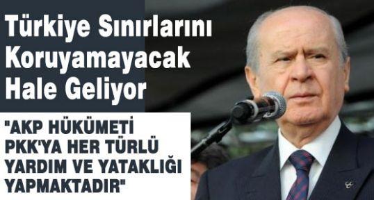 """Bahçeli: """"AKP, PKK, ya yardım ve yataklık yapmaktadır"""""""