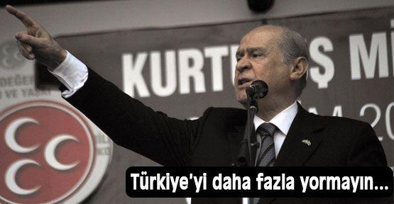 Bahçeli: AKP ve CHP'nin Kayıkçı Kavgası...