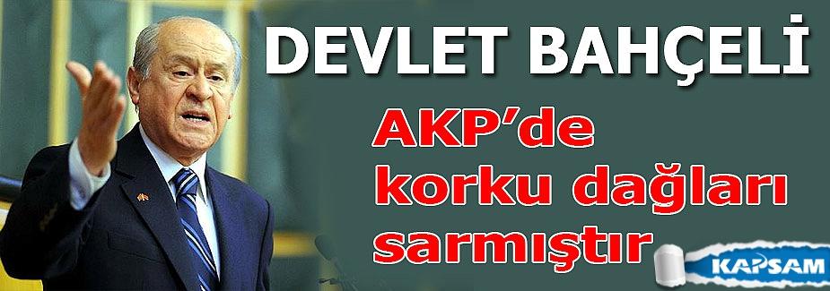 Bahçeli: AKP'de korku dağları sarmıştır