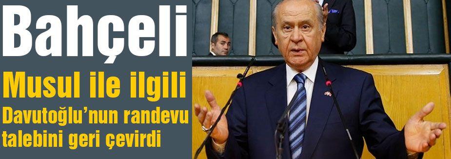 Bahçeli, Davutoğlu'nu reddetti