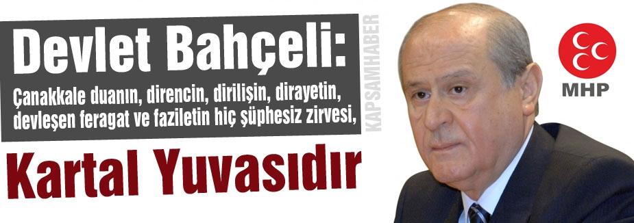 Bahçeli: Türk milleti bölücü ve yıkıcı mihrakların keyfine bırakılmayacaktır