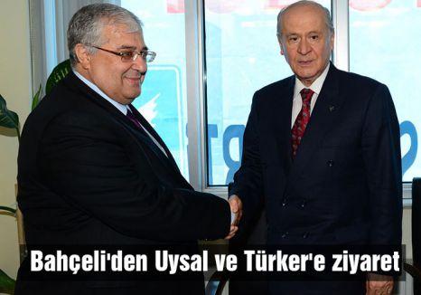 Bahçeli'den Uysal ve Türker'e ziyaret