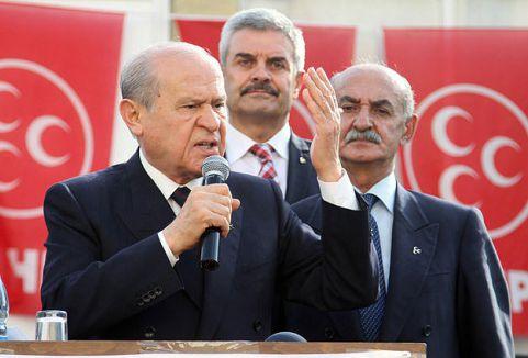 Bahçeli:'Erdoğan'dan cumhurbaşkanı olmaz'