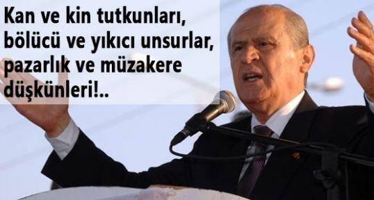 Bahçeli:'PKK Hükümeti Maskaraya Çevirdi'