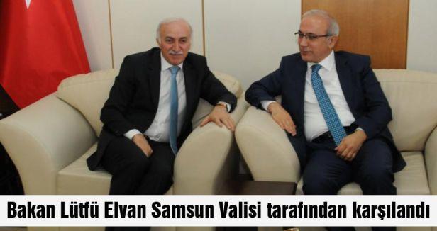 Bakan Elvan'ı Samsun Valisi karşıladı