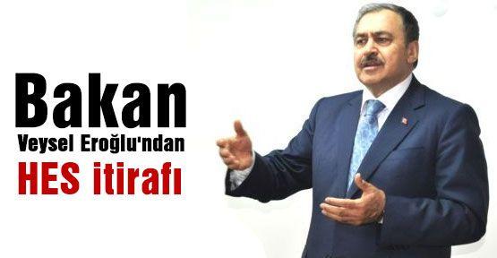Bakan Eroğlu: !HES'lerde hata yaptık