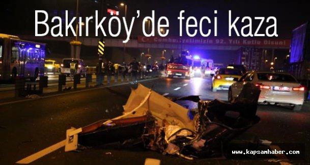 Bakırköy'de çok feci kaza