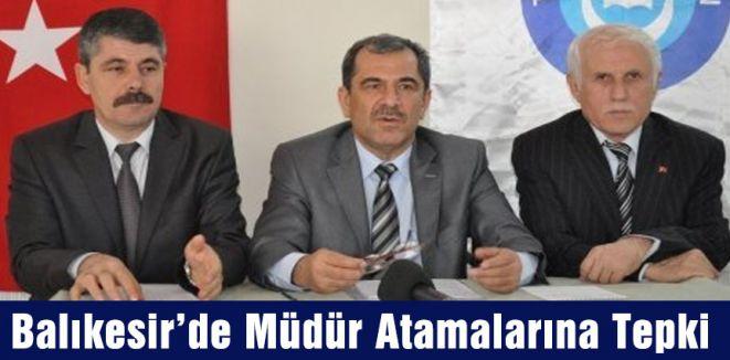 Balıkesir'de Türk Eğitim-Sen Atamalara Tepki Gösterdi