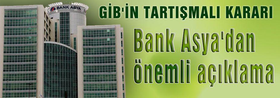Bank Asya'dan çok önemli açıklama