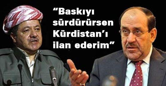 Barzani: Kürdistan'ı ilan ederim