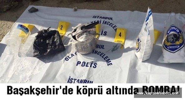 Başakşehir'de köprü altında bomba paniği