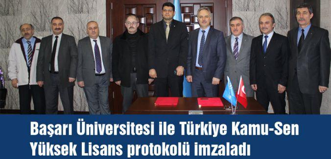 Başarı Üniversitesi Kamu-Sen arasında Protokol