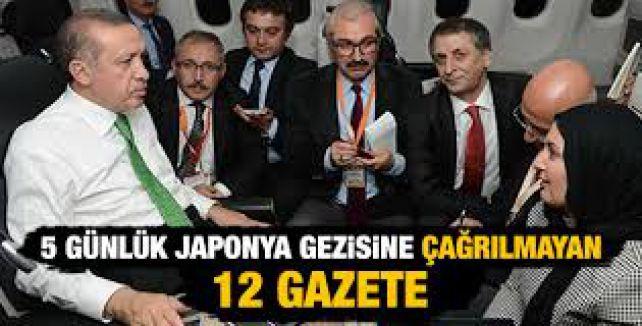 Başbakan'ın Gezisine 12 Gazete çağrılmadı...