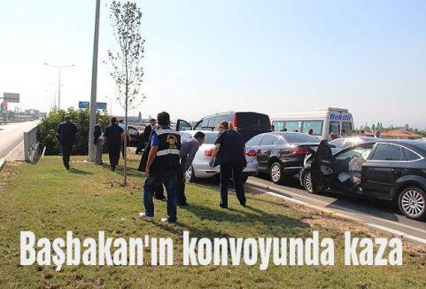 Başbakan'ın konvoyunda kaza
