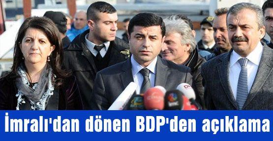 BDP İmralıdan mesaj getirdi