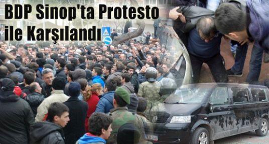 BDP Sinop'ta Protesto ile Karşılandı