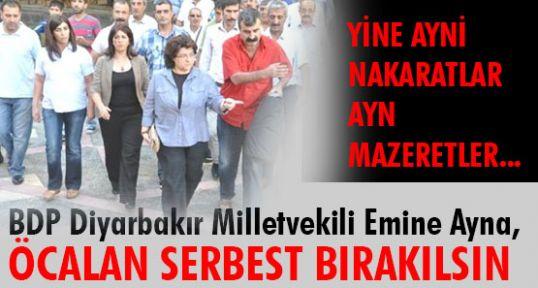 BDP'li Ayna: Öcalan  serbest bırakılsın