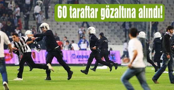 Beşiktaş taraftarı sahaya indi