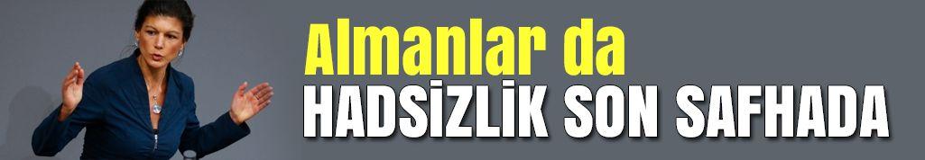 Hadsizlik son safhada: Wagenknecht, Erdoğan'a 'terörist' dedi