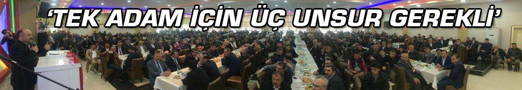 MHP'li Usta: Tak Adam İçin Üç Unsur Gerekli
