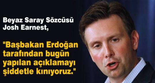 Beyaz Saray Erdoğan'ı Kınadı