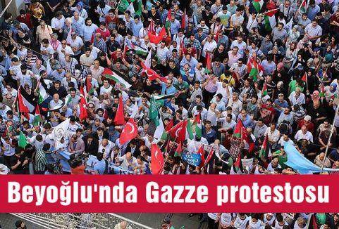 Beyoğlu'nda Gazze protestosu