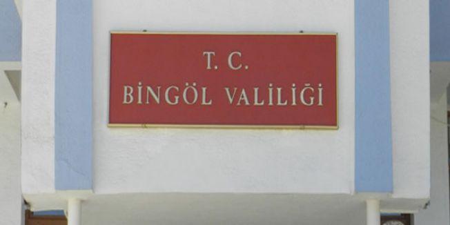 Bingöl Valiliği'nden Açıklama
