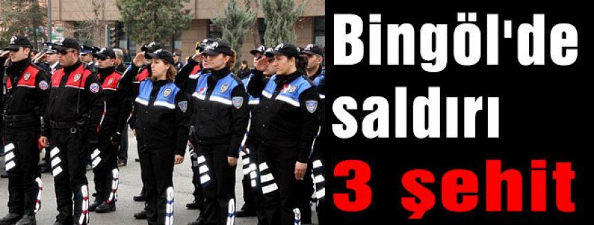 Bingöl'de saldırı 3 şehit
