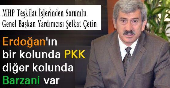 Bir kolunda PKK diğer kolunda Barzani