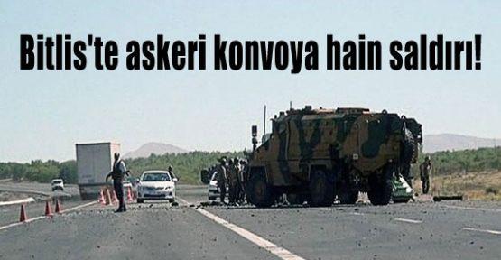 Bitlis'te Askeri Konvoya Hain Saldırı!