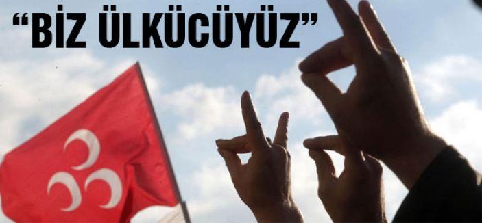"""""""BİZ ÜLKÜCÜYÜZ"""" maskesi"""