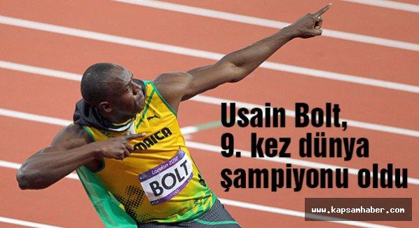 Bolt, 9. kez dünya şampiyonu