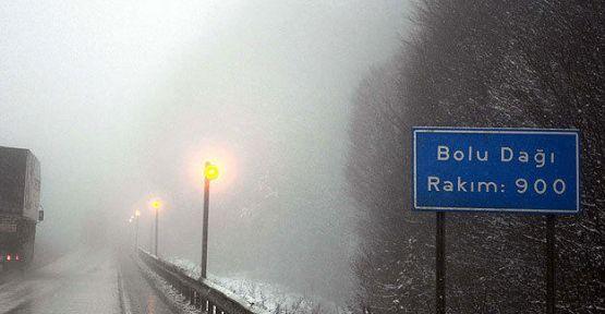 Bolu Dağı'nda buzlanma uyarısı...
