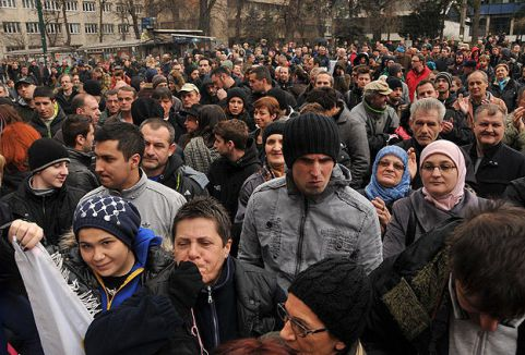 Bosna Hersek'te protestolar sürüyor...