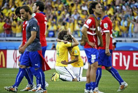 Brezilya penaltılarla çeyrek finalde