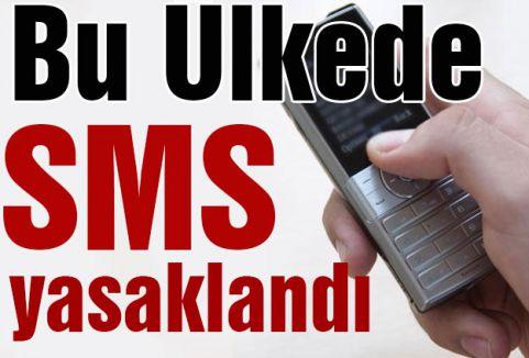 Bu Ülkede SMS yasaklandı