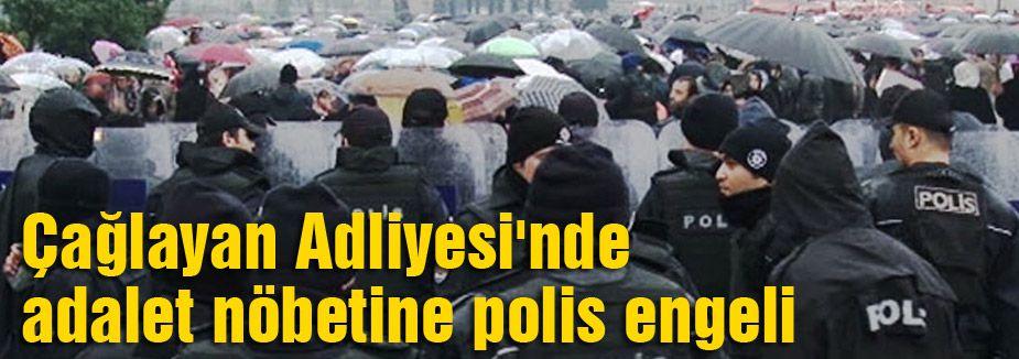 Çağlayan'da göstericilere Polis Engeli