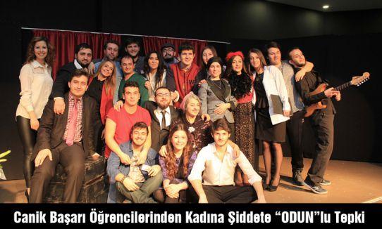 """Canik Başarı Öğrencilerinden Kadına Şiddete """"ODUN""""lu Tepki"""