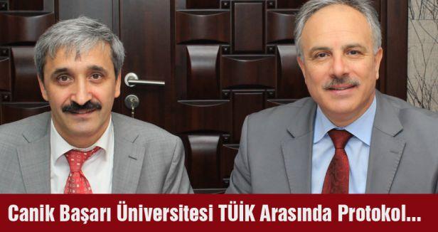 Canik Başarı Üniversitesi TÜİK Arasında Protokol...
