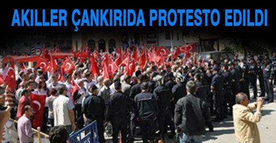 Çankırı'da Akillere Protesto...