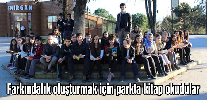 Çarşamba'da Parkta Kitap Okudular