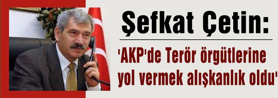 Çetin: 'AKP'de Terör örgütlerine yol vermek alışkanlık oldu'