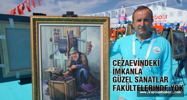 Cezeavlerindeki sonradan ressamların boncuklu yağlı boyalı eserleri Ankara'da