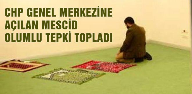 CHP Genel Merkezi'nde Mescit