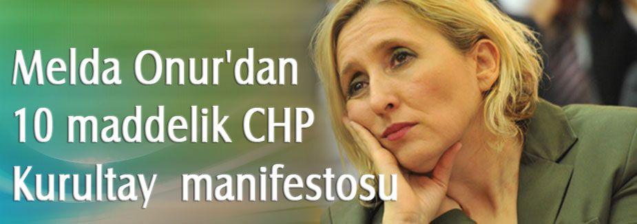 CHP Kurultayı için manifesto