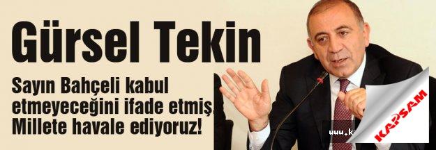 CHP'li Tekin MHP'nin olumsuz yanıtını eleştirdi